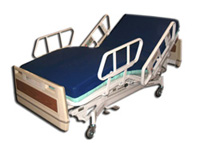 Hospital beds and accessories.